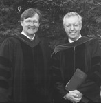 Dean John D. Hutson and Associate Justice James E. Duggan