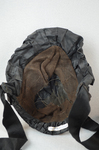 Bonnet, black silk, possibly for mourning, c. 1860s, interior view by Irma G. Bowen Historic Clothing Collection
