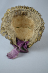 Bonnet, traditional German folk hat of metal lace, 19th century, interior view by Irma G. Bowen Historic Clothing Collection