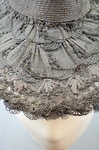 Bonnet, black straw lace, 1890s, brim detail by Irma G. Bowen Historic Clothing Collection
