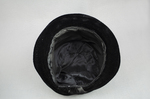 Cloche, black velvet, embroidered, 1920s, interior view by Irma G. Bowen Historic Clothing Collection