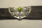 Buckle, silver and glass, early 20th century by Irma G. Bowen Historic Clothing Collection