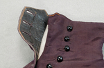Boots, purple faille high-button, 1880s-1900s, detail of buttonhole lining by Irma G. Bowen Historic Clothing Collection