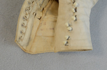 Boots, white canvas high-buttoned, 1915, detail of buttonhole lining by Irma G. Bowen Historic Clothing Collection