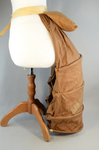 Bustle, lobster-tail with wire coils and pad, c. 1885, side view by Irma G. Bowen Historic Clothing Collection
