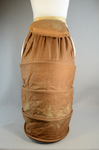 Bustle, lobster-tail with wire coils and pad, c. 1885, back view by Irma G. Bowen Historic Clothing Collection