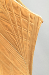 Brown linen stays, 1780-1790, detail of stitching by Irma G. Bowen Historic Clothing Collection