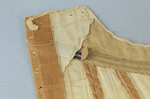 Brown linen stays, 1780-1790, detail of layers of stiffening by Irma G. Bowen Historic Clothing Collection