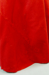 Woman's red wool cloak, c. 1750-1800, detail of selvedge seam, interior and exterior by Irma G. Bowen Historic Clothing Collection