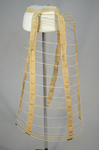 Cage crinoline with bustle, 1868-1873, side view by Irma G. Bowen Historic Clothing Collection