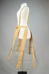 Cage crinoline with shoulder straps 1868-1873, side view by Irma G. Bowen Historic Clothing Collection
