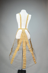 Cage crinoline with shoulder straps 1868-1873, back view by Irma G. Bowen Historic Clothing Collection