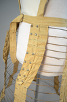 Cage crinoline with shoulder straps 1868-1873, detail of wire attachment by Irma G. Bowen Historic Clothing Collection