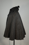 Cape with black silk faille and jet bead embroidery, 1890s, side view by Irma G. Bowen Historic Clothing Collection