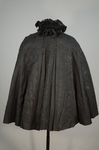 Cape with black silk faille and jet bead embroidery, 1890s, back view by Irma G. Bowen Historic Clothing Collection