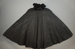 Cape with black silk faille and jet bead embroidery, 1890s, view spread by Irma G. Bowen Historic Clothing Collection