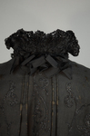 Cape with black silk faille and jet bead embroidery, 1890s, detail of collar frill exterior by Irma G. Bowen Historic Clothing Collection
