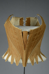 Brown linen stays, 1780-1790, front view by Irma G. Bowen Historic Clothing Collection