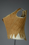 Brown linen stays, 1780-1790, side view by Irma G. Bowen Historic Clothing Collection