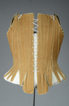 Brown linen stays, 1780-1790, back view by Irma G. Bowen Historic Clothing Collection