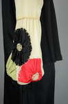Dress, black silk charmeuse with cream silk yoke and sleeves, 1928, detail of sleeve by Irma G. Bowen Historic Clothing Collection