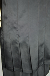 Dress, black silk charmeuse with cream silk yoke and sleeves, 1928, detail of front pleats by Irma G. Bowen Historic Clothing Collection
