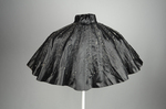 Cape, black silk satin with black bead embroidery, 1880s, back view by Irma G. Bowen Historic Clothing Collection