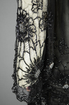 Dress, black silk chiffon with sequined allover lace, c. 1928, detail of sleeve by Irma G. Bowen Historic Clothing Collection
