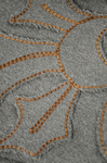 Coat, brown wool with leg-of-mutton sleeves and appliqué, 1894, detail of appliqué by Irma G. Bowen Historic Clothing Collection