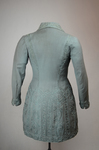 Coat, teal wool with cordwork, 1910-1915, back view by Irma G. Bowen Historic Clothing Collection