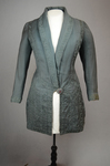 Coat, teal wool with cordwork, 1910-1915, front view by Irma G. Bowen Historic Clothing Collection