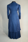 Wedding suit, blue wool with cord-work 1909, back view by Irma G. Bowen Historic Clothing Collection
