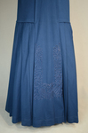 Wedding suit, blue wool with cord-work 1909, skirt by Irma G. Bowen Historic Clothing Collection