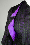 Dress, black silk open weave over purple silk taffeta, c. 1902, detail of lining by Irma G. Bowen Historic Clothing Collection