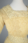 Dress, cream silk faille with ecru embroidered net, c.1910, detail of bodice by Irma G. Bowen Historic Clothing Collection