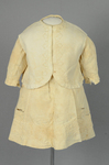 Boy's dress and vest, white cotton piqué decorated with a leaf and loop braid pattern, 1900-1917, front view by Irma G. Bowen Historic Clothing Collection
