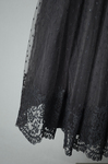 Cocktail dress, black point d'esprit with lace over black rayon lining, 1950s, detail of skirt by Irma G. Bowen Historic Clothing Collection