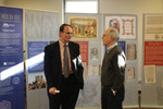 Justice Robert J. Lynn of the New Hampshire State Supreme Court (left) and Attorney Mark Attorri at the symposium