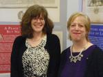 UNH Law Library Serials Supervisor Ellen Phillips (left) and UNH Law Library Acquisitions Supervisor Kathie Goodwin