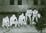 Basketball players with Henry Swasey, ca. Winter 1936 by Clement Moran
