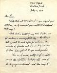 Letter from William De Witt Snodgrass to Louis Untermeyer, July 10, 1962 by Snodgrass, W. D. (William De Witt), 1926-