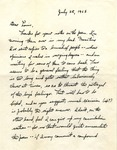 Letter from William De Witt Snodgrass to Louis Untermeyer, July 28, 1962 by Snodgrass, W. D. (William De Witt), 1926-